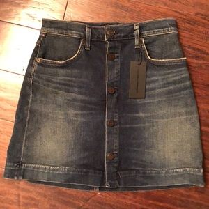 Citizens of Humanity Denim Button Jean Mini Skirt